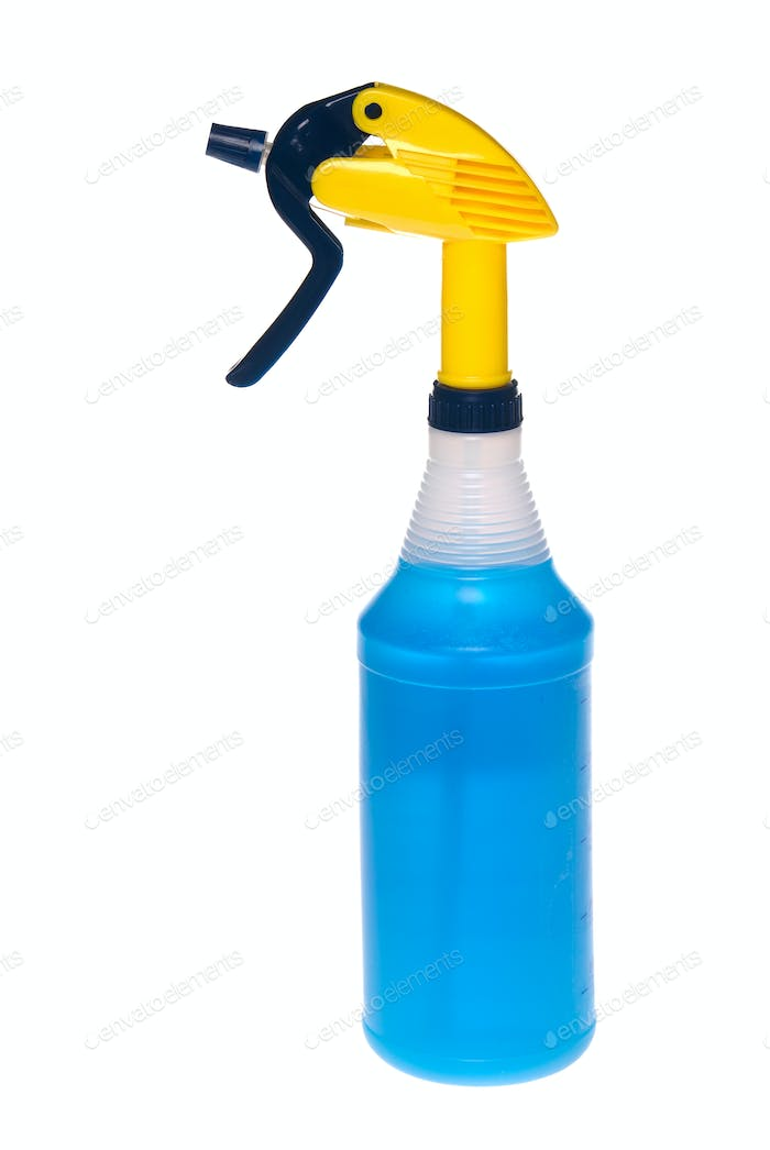 Spray bottle of cleaner