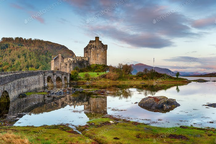Sunrise at Eilean Donan castle