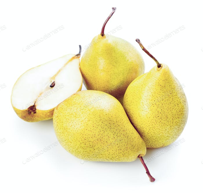 fresh ripe yellow pear