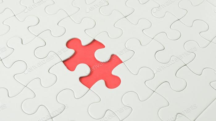 Puzzle piece put into missing places