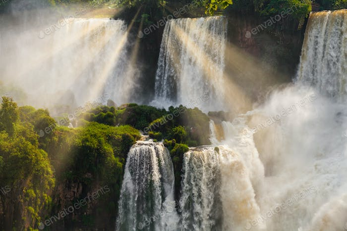 Iguazu Falls Cataratas del Iguazu are waterfalls of the Iguazu River