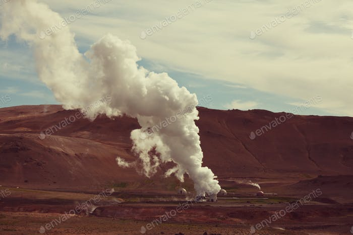Geothermal station