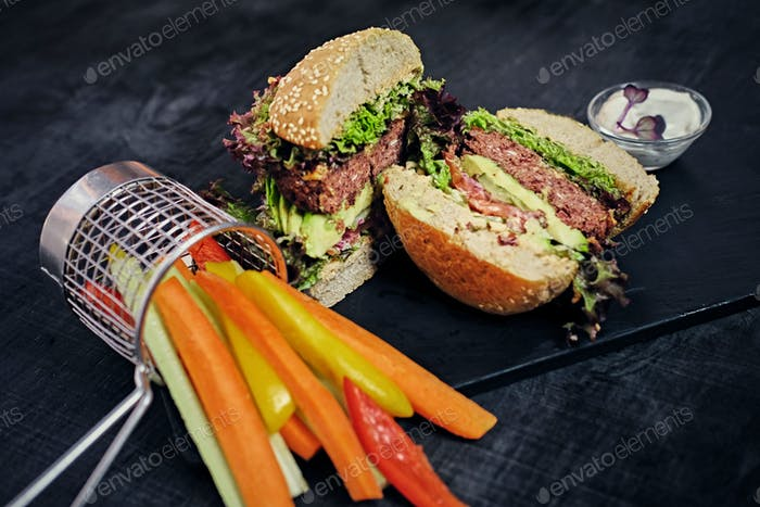 Veganer Pilz-Burger
