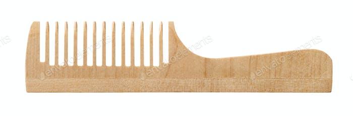 Single wooden comb