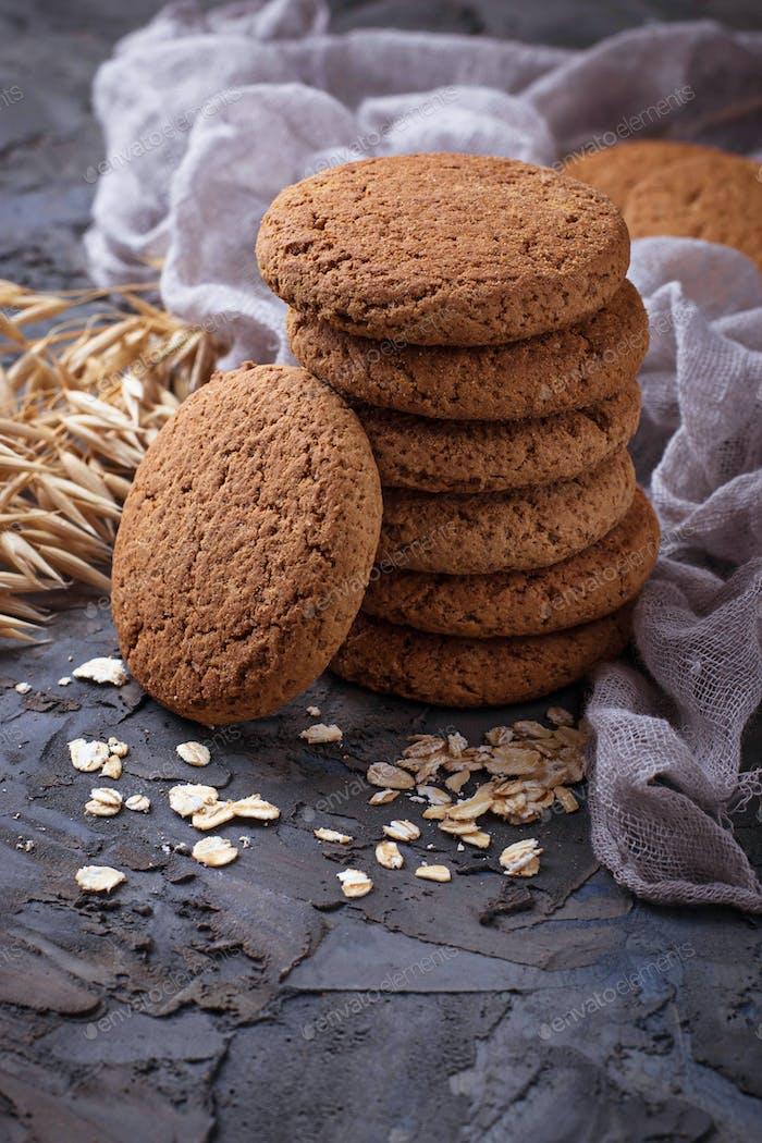 Haferflocken glutenfreie Kekse