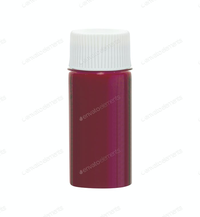 medicine vial isolated