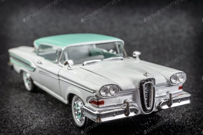 Car vintage isolated on black background