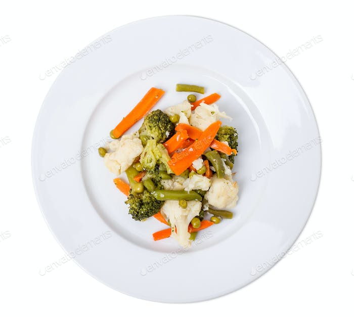 Delicious mixed vegetables.