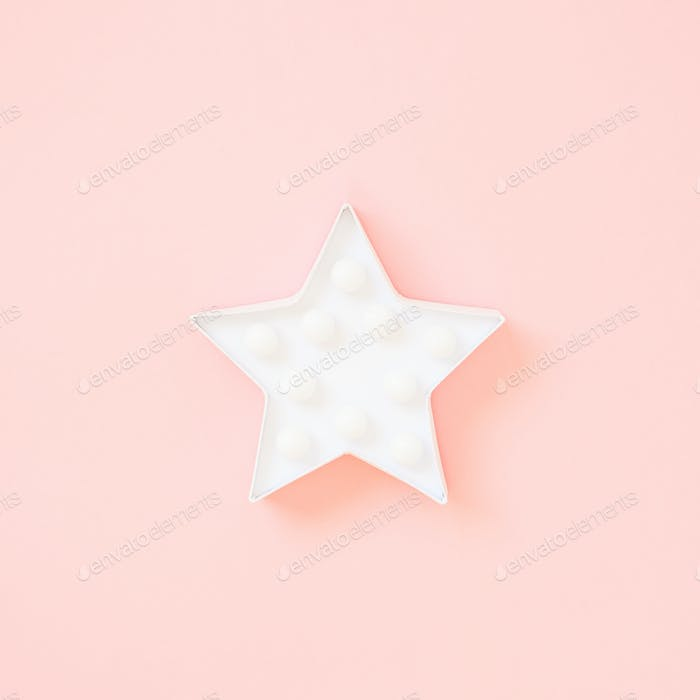 Star shaped white LED lights lamp