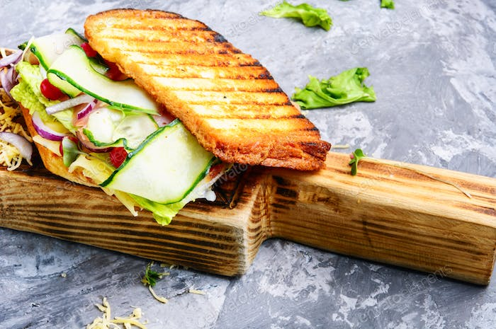 Thumbnail for Sandwiches on cutting board
