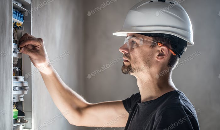 Installation and connection of electrical equipment.