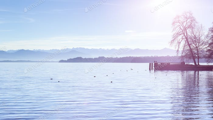 lake Starnberg view from Tutzing