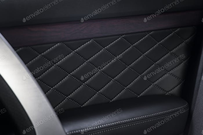 Door leather panel