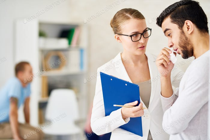Man Talking One on One with Psychiatrist