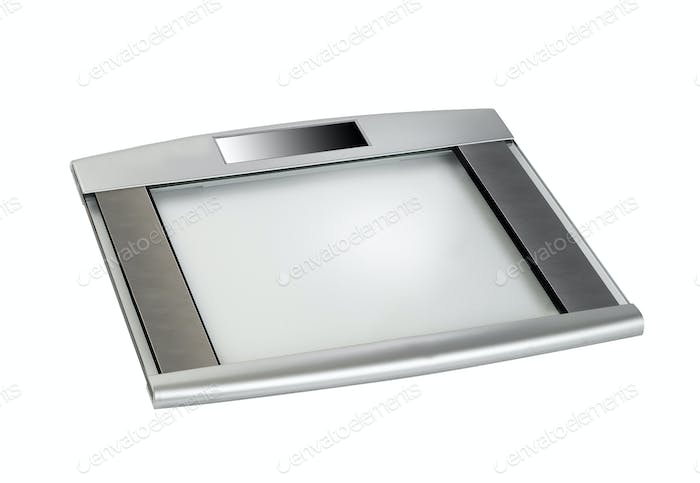Bathroom scale isolated on white
