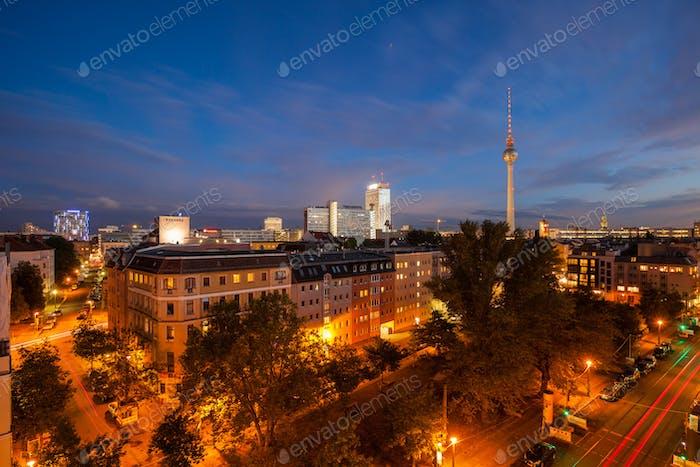 View over Berlin Alexanderplatz