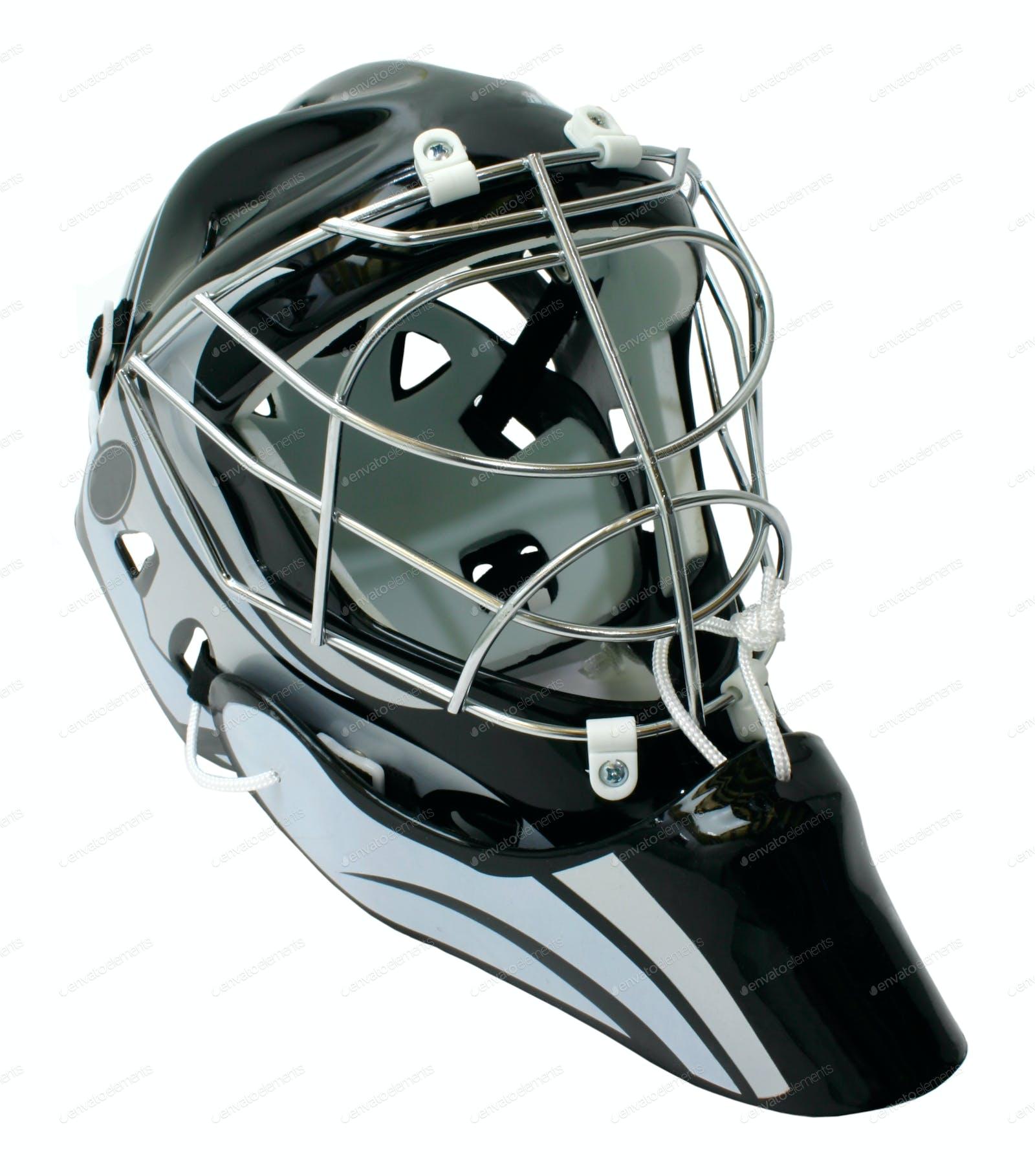 Hockey goaltender helmet