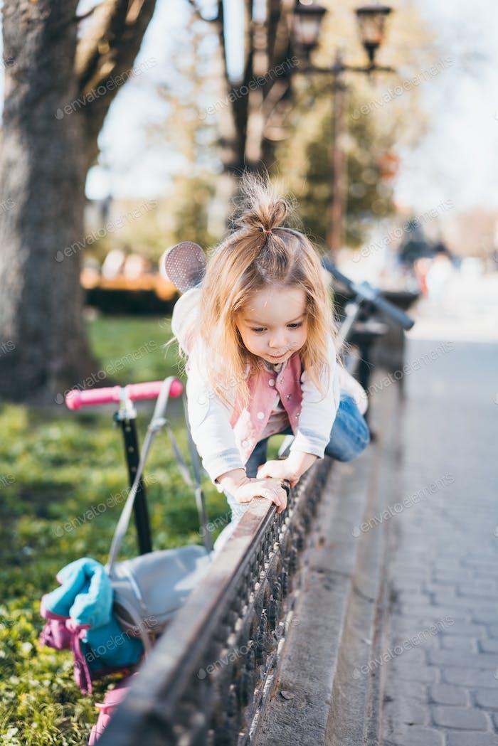 Little girl on the street