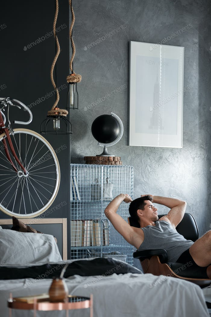 Resting in bedroom