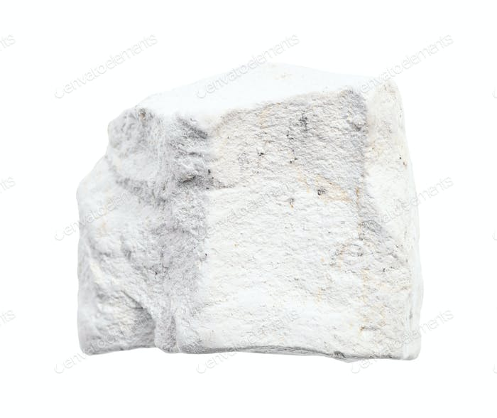 rohe Kreide (weißer Kalkstein) Gestein isoliert