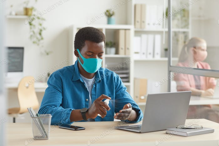 Young Man in Post Pandemic Office