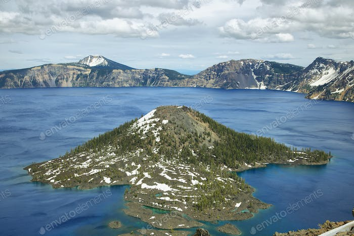 Wizard Island on Crater Lake