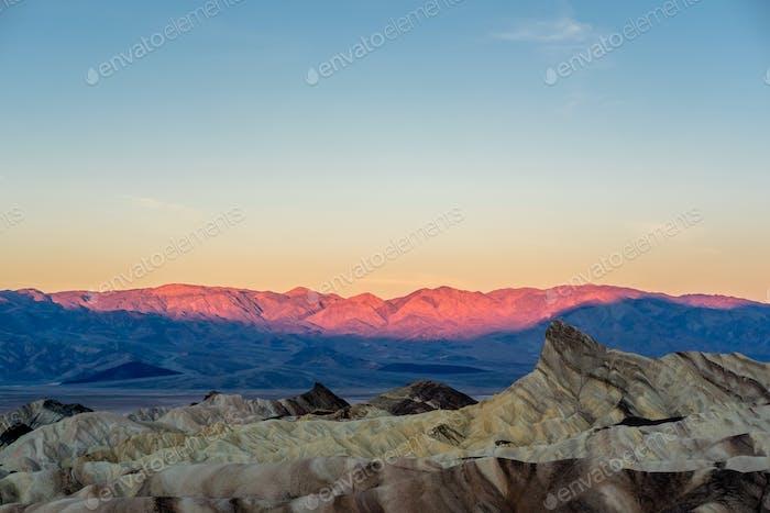Death Valley National Park - Zabriskie Point at sunrise