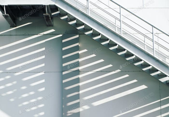 Exterior staircase in sunny day