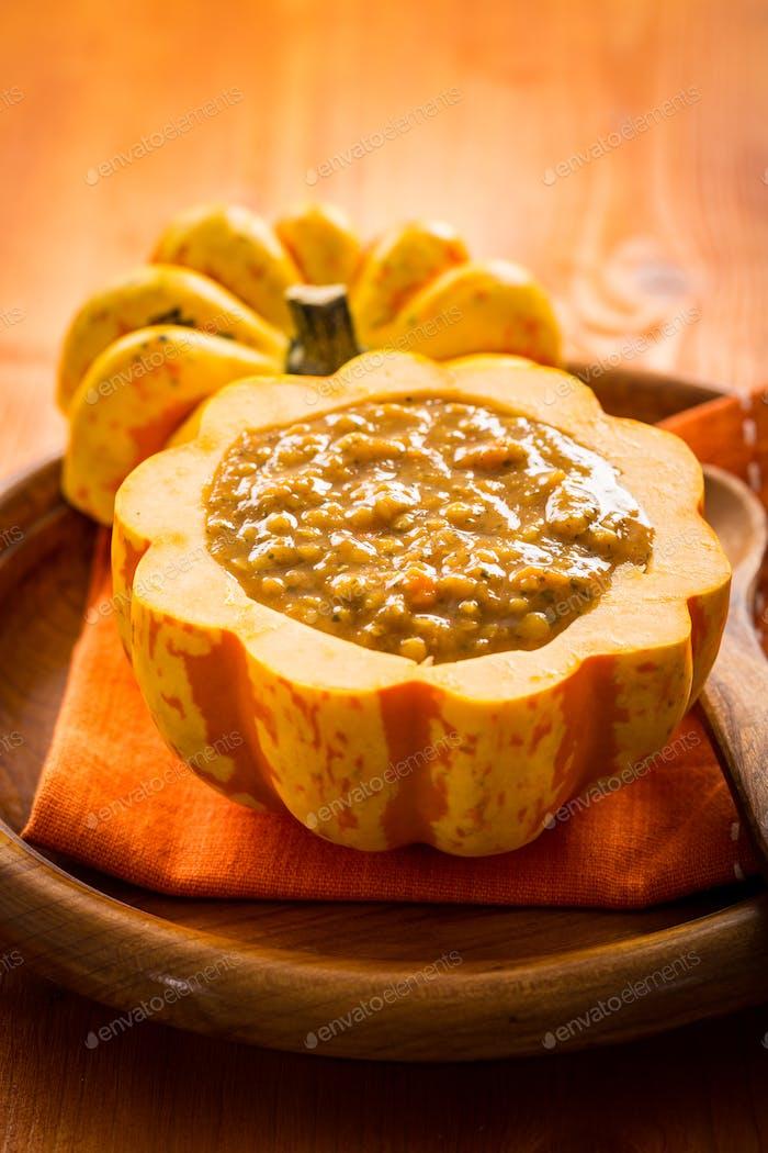 Pumpkin soup for Thanksgiving