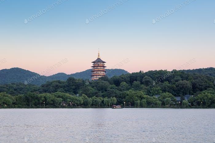 beautiful hangzhou west lake scenery