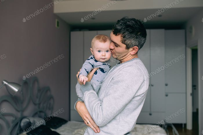 Father playing with his daughter
