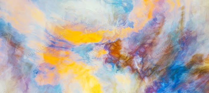 Abstract watercolor art painting. Colorful creative background