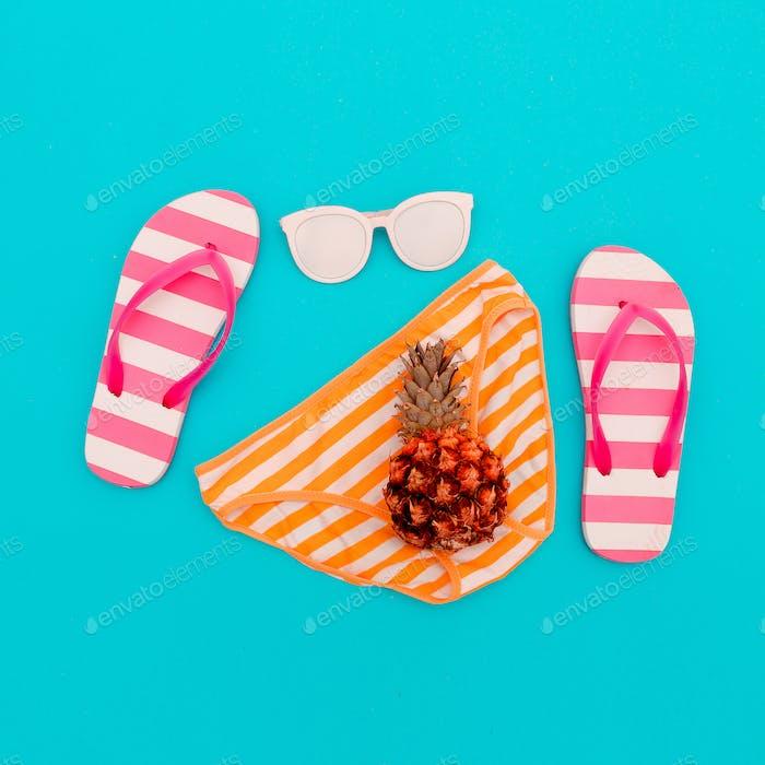 Beach Style. Beach accessories. Minimal