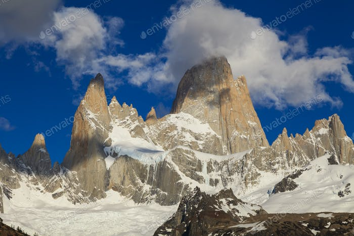 View of famous Fitz Roy. Patagonia. Argentina.