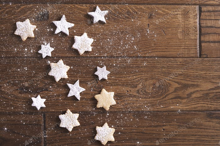 Little bit of star shaped cookies