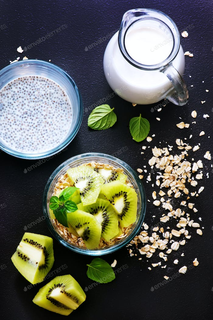 milk with chia seeds