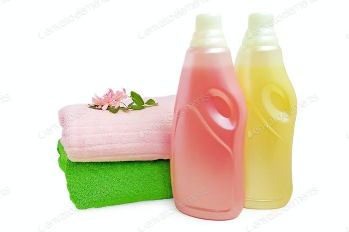 Spülen und Handtücher