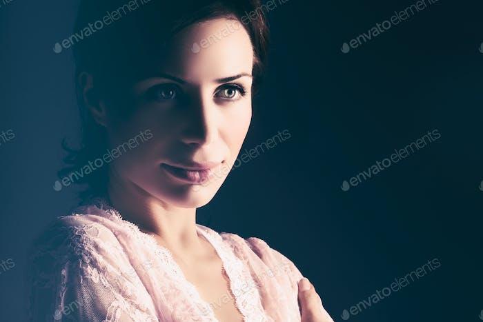 Sanfte Frau Porträt
