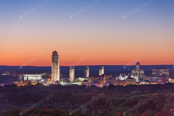 Albany, New York, USA City Skyline