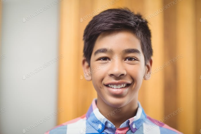 Portrait of smiling schoolboy