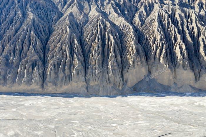 beautiful dushanzi grand canyon landscape in kuytun city, xinjiang