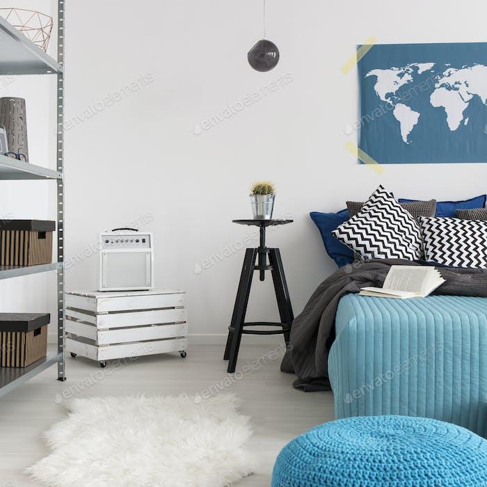 Bedroom with minimalist furnitures