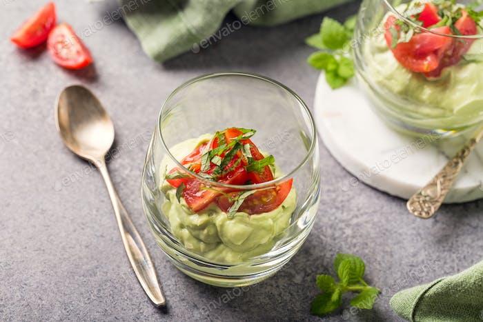 Fresh guacamole sauce