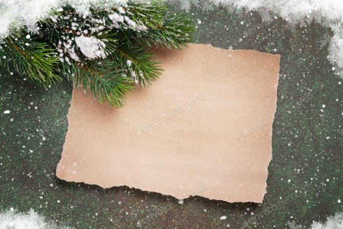 Blatt Papier für Weihnachtswünsche