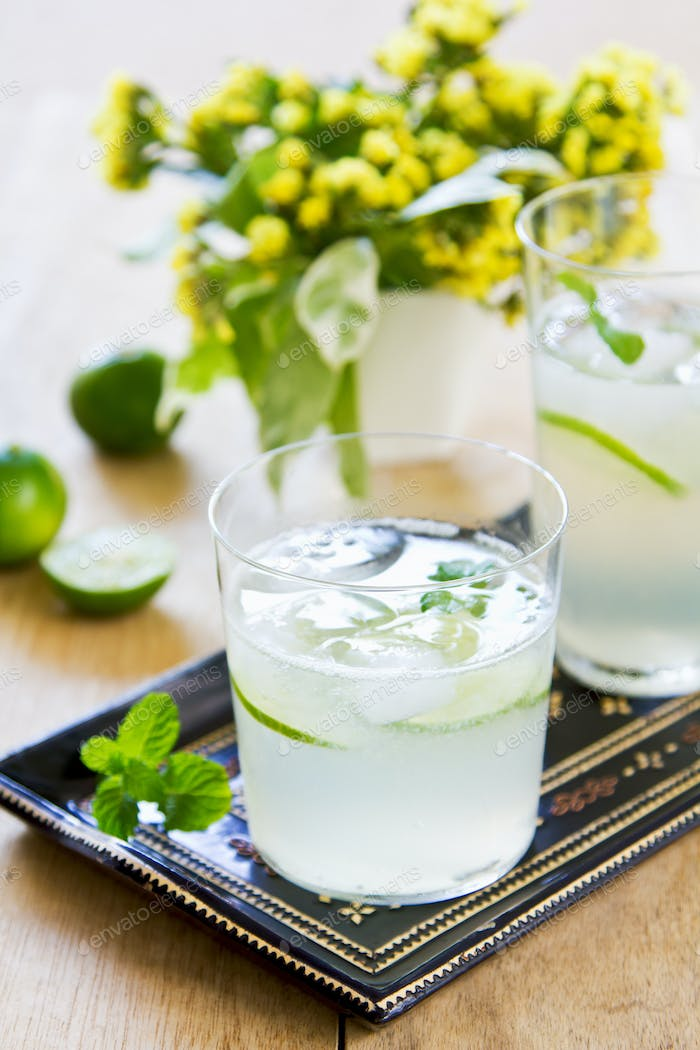 Lime with soda juice