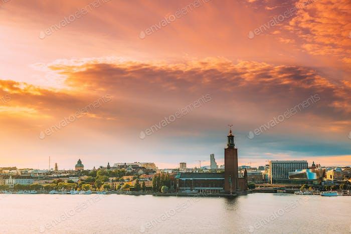 Stockholm, Schweden. Scenic Skyline