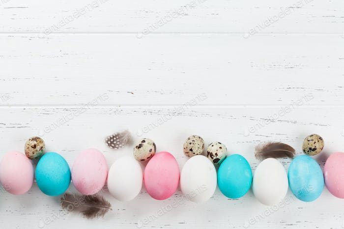 Colorful easter eggs backdrop