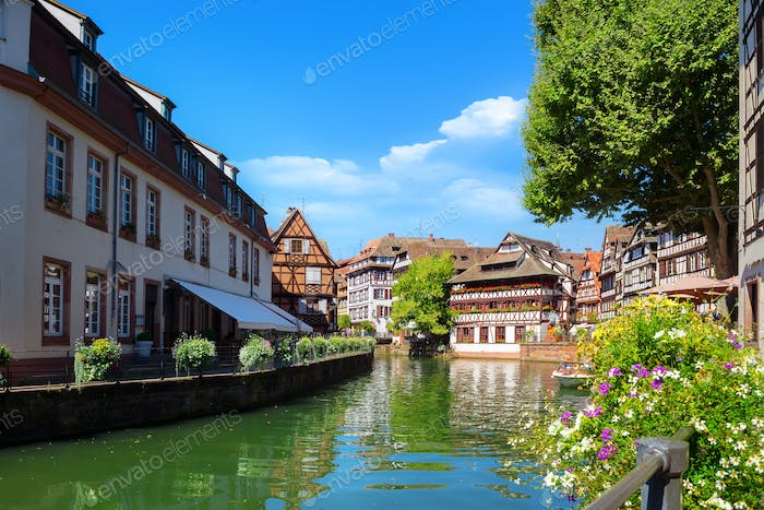 Strasbourg houses on river