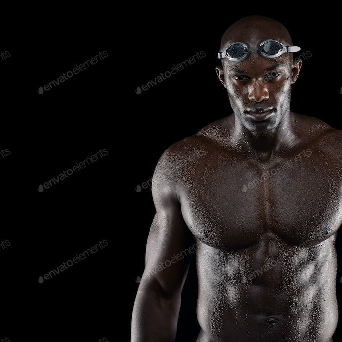 Professional male swimmer