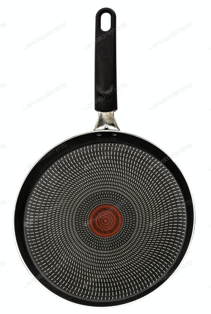 Frying pan, isolated on white background, with clipping path